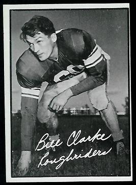 1961 Topps CFL #91 - Bill Clarke - exmt oc