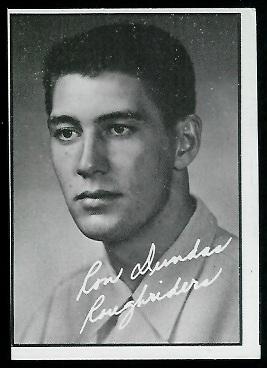 1961 Topps CFL #92 - Ron Dundas - exmt mc