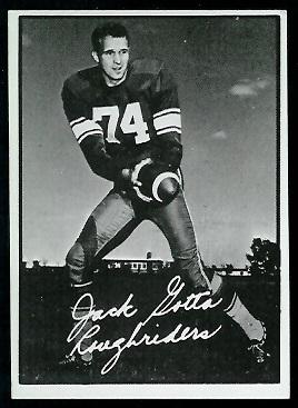 1961 Topps CFL #93 - Jack Gotta - exmt+