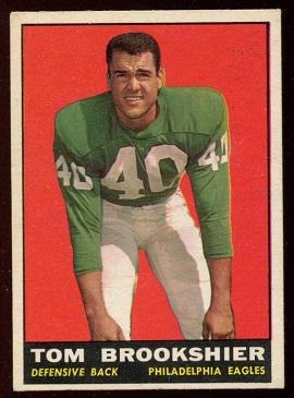 1961 Topps #102 - Tom Brookshier - exmt