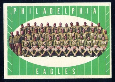 1961 Topps #103 - Philadelphia Eagles Team - nm
