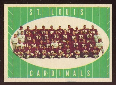 1961 Topps #121 - St. Louis Cardinals Team - ex+