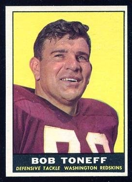 1961 Topps #129 - Bob Toneff - exmt