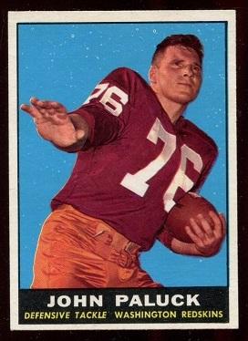 1961 Topps #130 - John Paluck - exmt