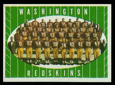 1961 Topps #131 - Washington Redskins Team - nm