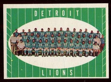 1961 Topps #37 - Detroit Lions Team - exmt