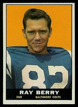 1961 Topps #4 - Raymond Berry - exmt