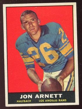 1961 Topps #49 - Jon Arnett - ex