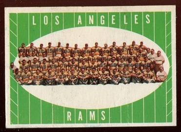 1961 Topps #56 - Los Angeles Rams Team - ex