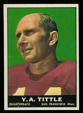 1961 Topps #58 - Y.A. Tittle - exmt