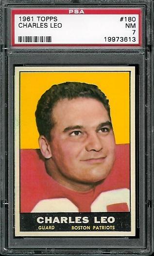 1961 Topps #180 - Charley Leo - PSA 7