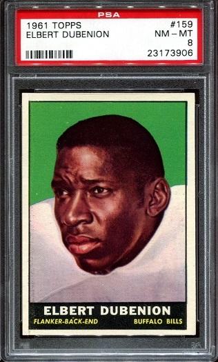 1961 Topps #159 - Elbert Dubenion - PSA 8