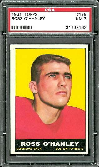 1961 Topps #178 - Ross O'Hanley - PSA 7