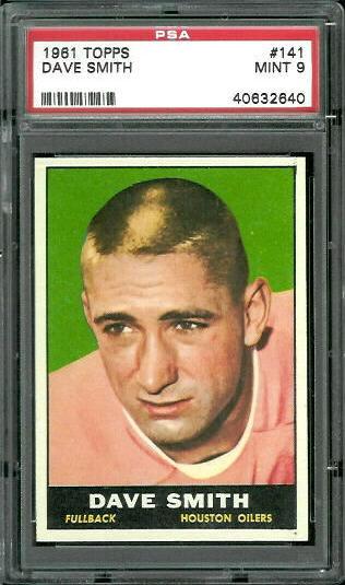 1961 Topps #141 - Dave Smith - PSA 9