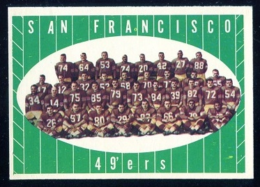 1961 Topps #66 - San Francisco 49ers Team - nm