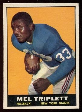 1961 Topps #86 - Mel Triplett - exmt