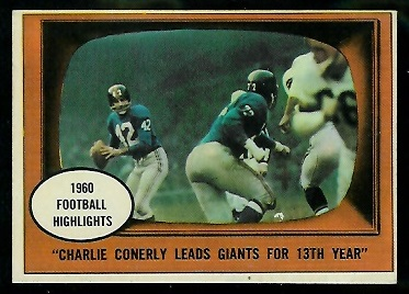 1961 Topps #94 - Charley Conerly Leads Giants for 13th Year - exmt