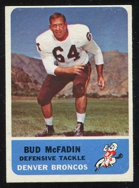 1962 Fleer #41 - Bud McFadin - nm-mt oc