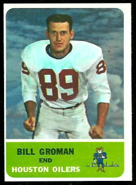 1962 Fleer #49 - Bill Groman - nm oc