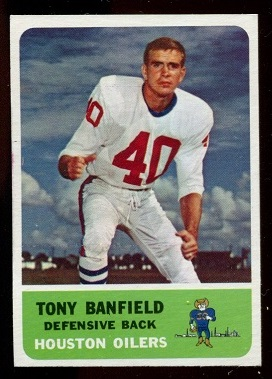 1962 Fleer #51 - Tony Banfield - nm-mt oc