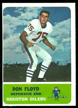 1962 Fleer #54 - Don Floyd - nm oc