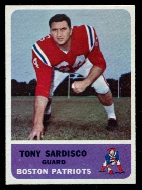 1962 Fleer #6 - Tony Sardisco - exmt