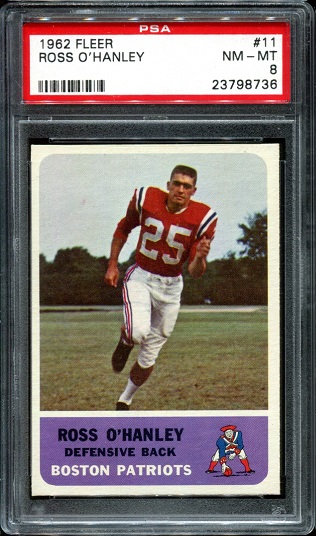 1962 Fleer #11 - Ross O'Hanley - PSA 8