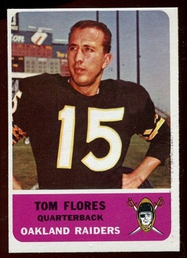 1962 Fleer #68 - Tom Flores - nm-mt oc