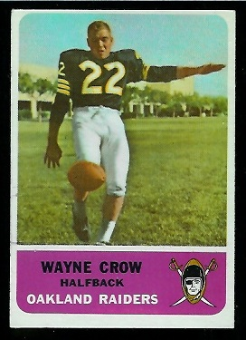 1962 Fleer #73 - Wayne Crow - ex