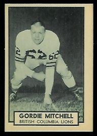 1962 Topps CFL #15 - Gordie Mitchell - nm