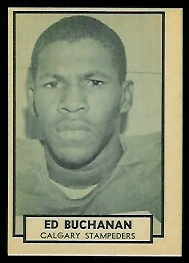 1962 Topps CFL #21 - Ed Buchanan - nm-mt oc