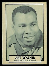 1962 Topps CFL #57 - Art Walker - nm+