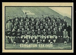 1962 Topps CFL #58 - Edmonton Eskimos Team - nm