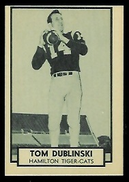 1962 Topps CFL #62 - Tom Dublinski - nm-mt oc