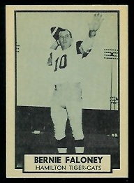 1962 Topps CFL #63 - Bernie Faloney - nm