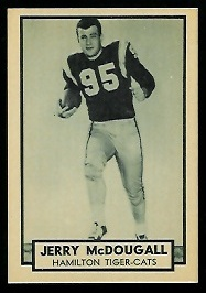 1962 Topps CFL #70 - Gerry McDougall - nm+