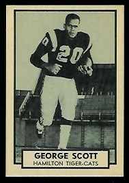1962 Topps CFL #74 - George Scott - nm+