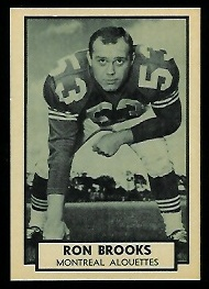 1962 Topps CFL #78 - Ron Brooks - nm-mt