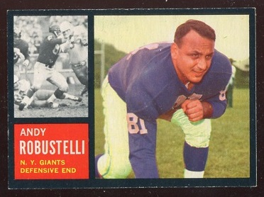 1962 Topps #108 - Andy Robustelli - exmt+
