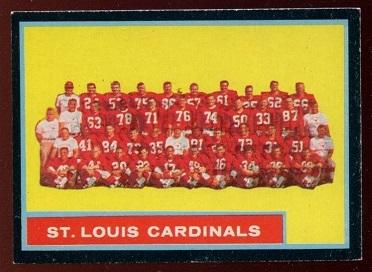 1962 Topps #150 - St. Louis Cardinals Team - exmt