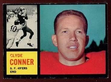 1962 Topps #156 - Clyde Conner - exmt