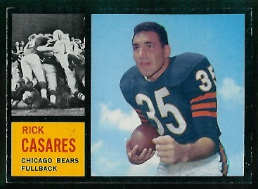 1962 Topps #16 - Rick Casares - exmt