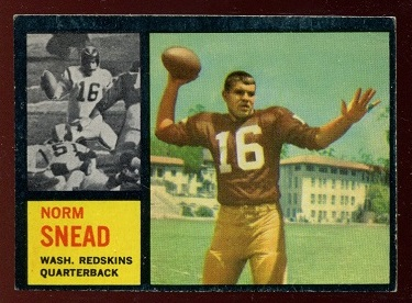 1962 Topps #164 - Norm Snead - ex