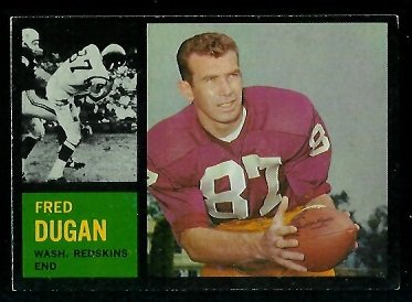1962 Topps #170 - Fred Dugan - exmt