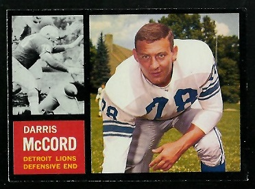 1962 Topps #57 - Darris McCord - exmt