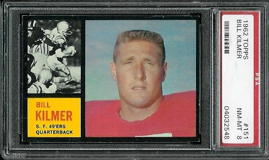 1962 Topps #151 - Bill Kilmer - PSA 8