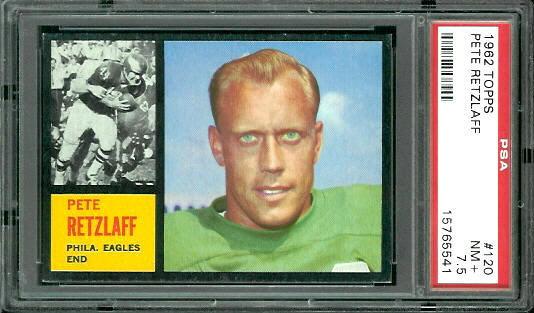 1962 Topps #120 - Pete Retzlaff - PSA 7.5