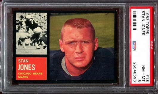 1962 Topps #18 - Stan Jones - PSA 8