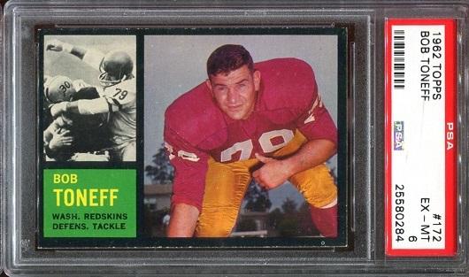 1962 Topps #172 - Bob Toneff - PSA 6