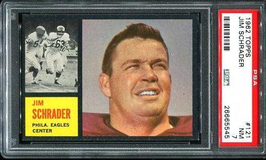 1962 Topps #121 - Jim Schrader - PSA 7